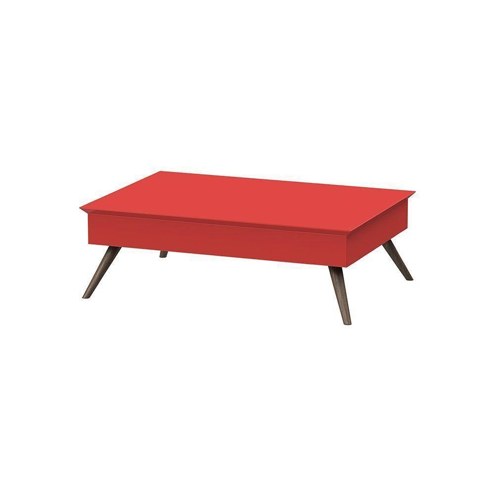Mesa De Centro Vermelho - Pinoquio