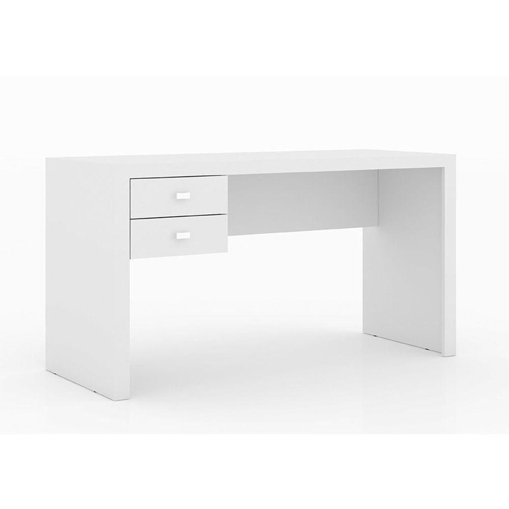 Mesa para Computador com 02 Gavetas ME4123 Branco - Tecno Mobili
