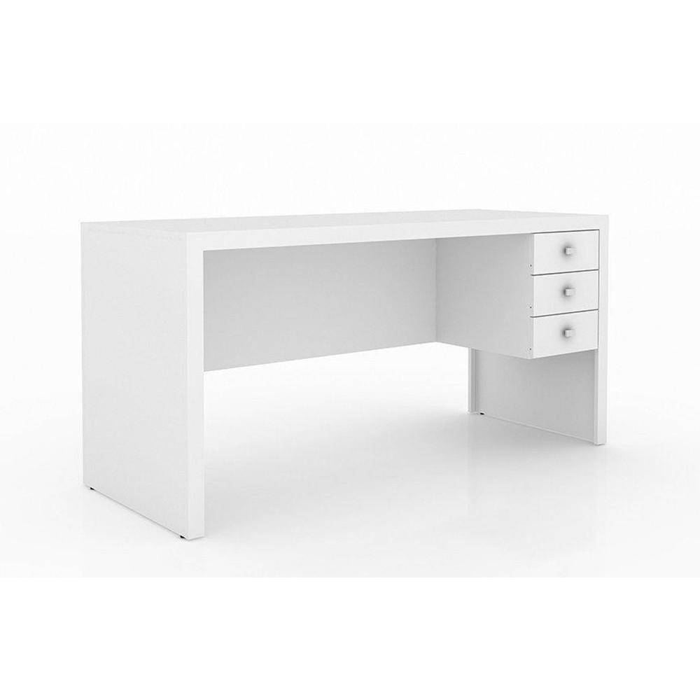 Mesa para Home Office 155cm ME4113 Branco - Tecno Mobili