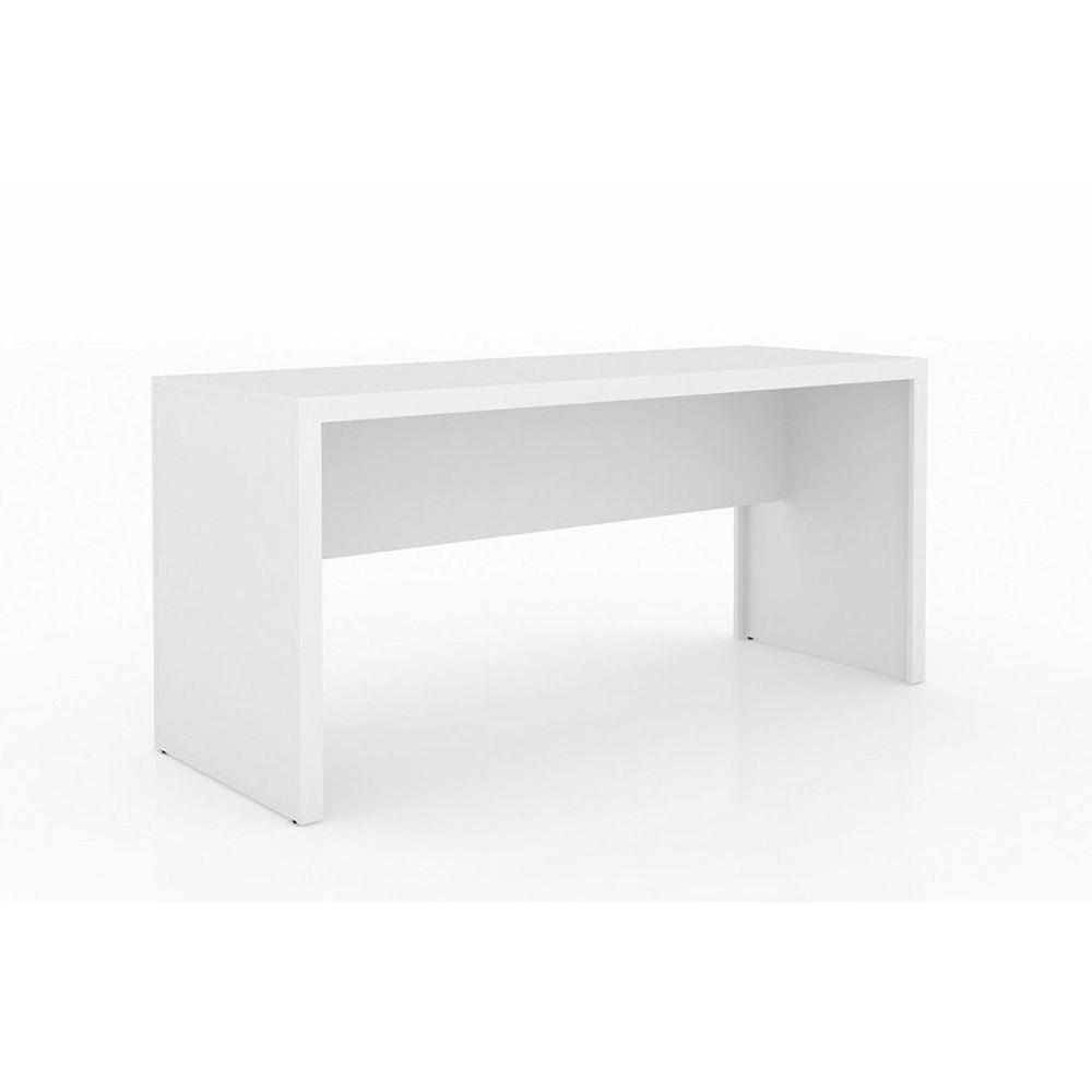 Mesa para Home Office 163cm ME4109 Branco - Tecno Mobili