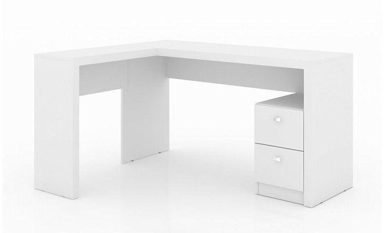 Mesa para Home Office com 02 Gavetas ME4129 Branco - Tecno Mobili