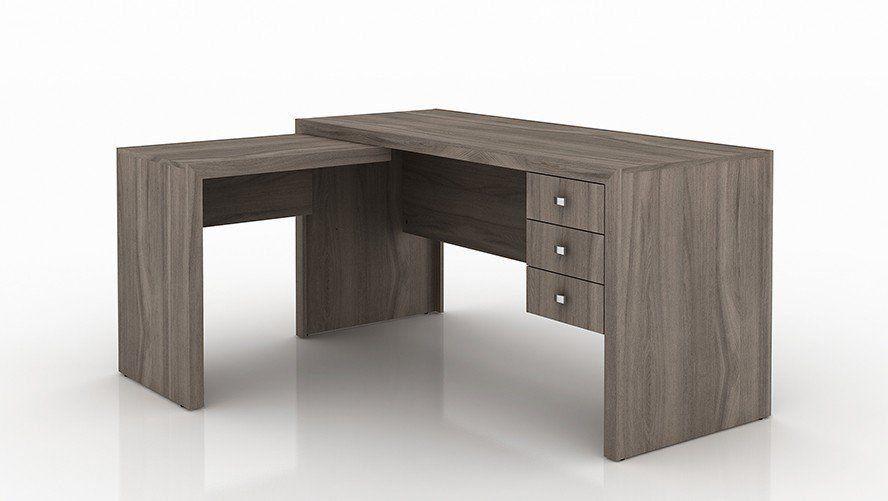 Mesa para Home Office com 03 Gavetas ME4106 Carvalho - Tecno Mobili