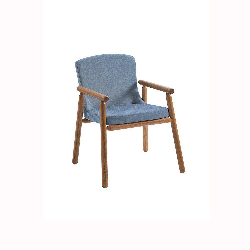 Poltrona Mini Bonini Tauari Linho Azul - Daf Mobiliário