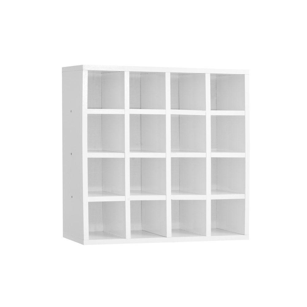 Nicho Porta Toalhas 16 Lugares 52x52cm Branco - AJL Móveis