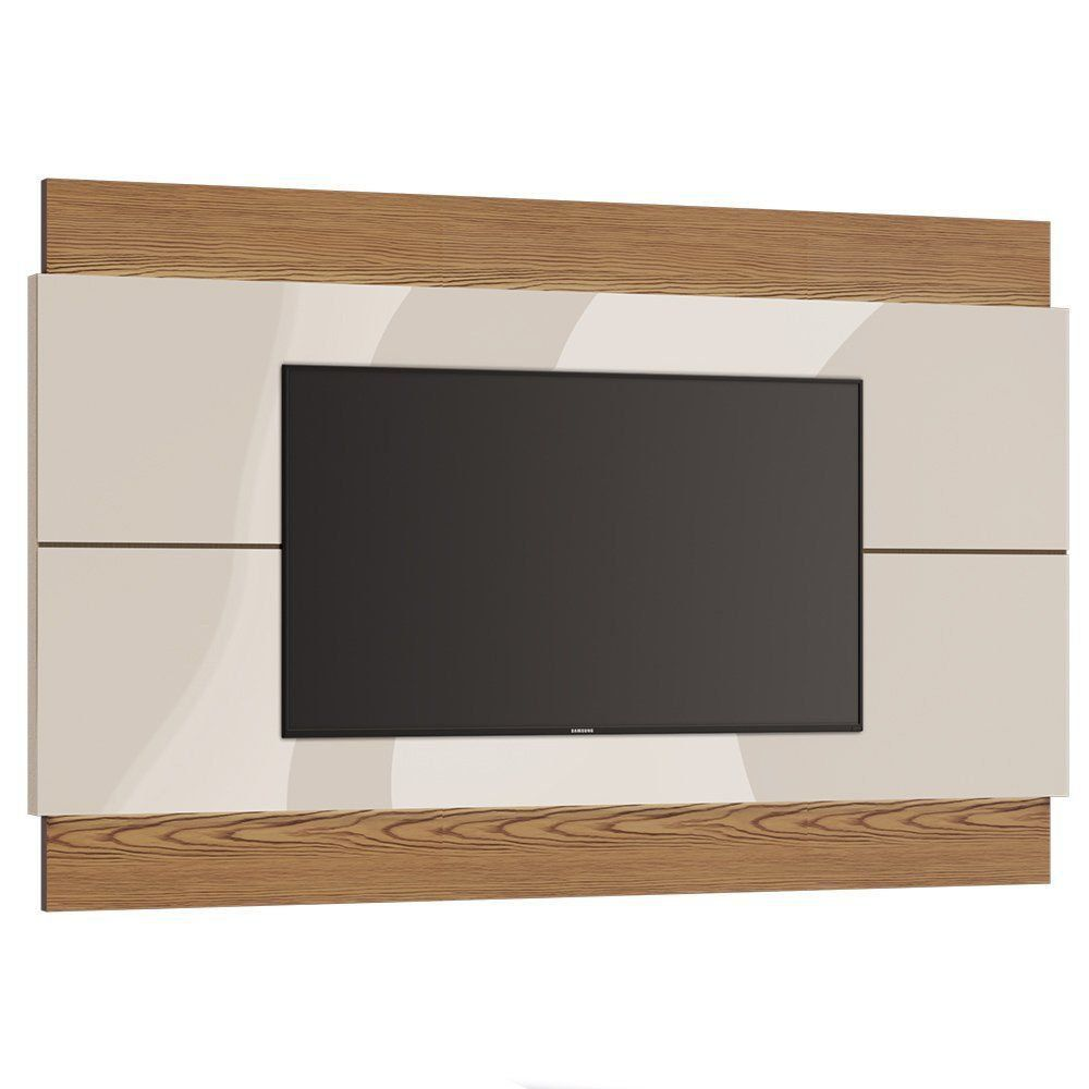 Painel para TV Classic 218cm Off White/ Freijó - Imcal