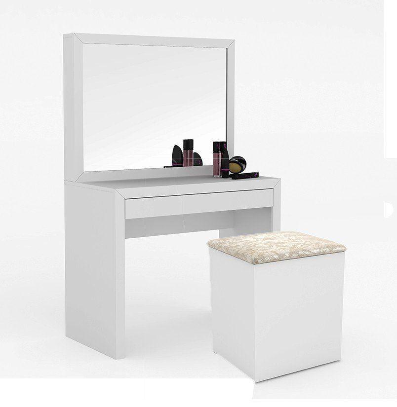 Penteadeira com Espelho PE2000 Branco/Pérola - Tecno Mobili