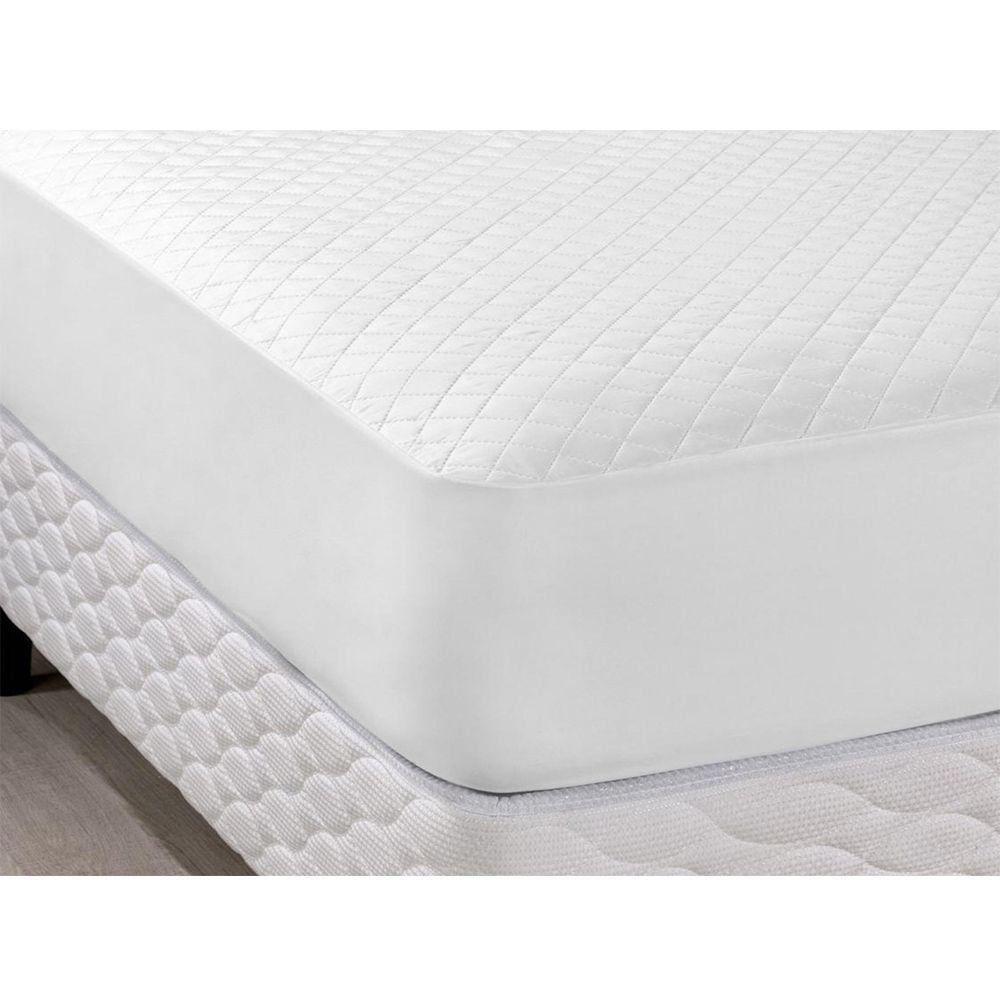 Protetor para Colchão Impermeável Casal Queen 01 Peça Branco - Casaborda Enxovais