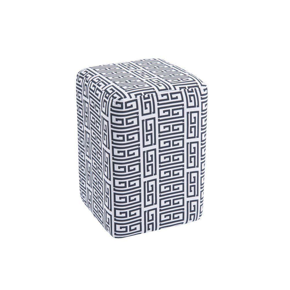 Puff Box Retangular Estampado C01 - Daf Mobiliário