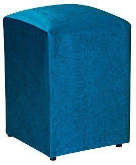 Puff Decorativo Suede Azul