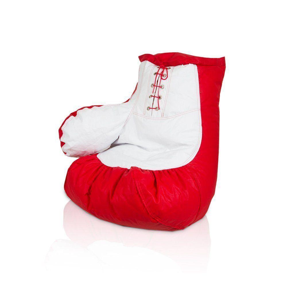 Puff Nobre Luva de Box Infantil Vermelho/Branco - Stay Puff