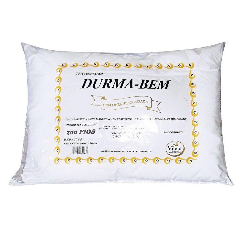 Travesseiro Durma Bem Branco - Vilela