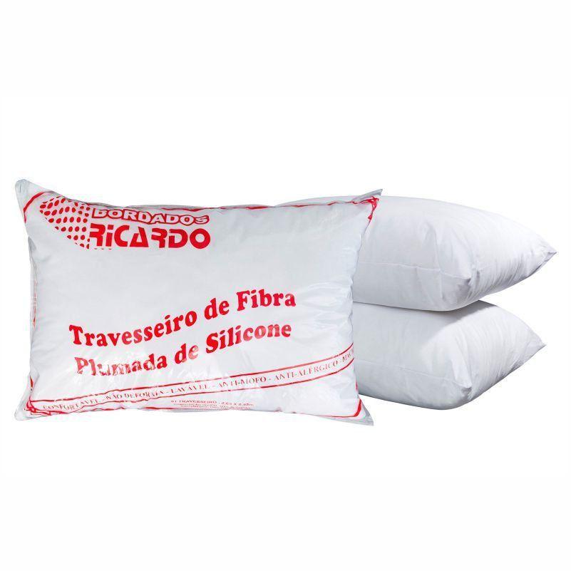 Travesseiro Siliconado 01 Peça Branco - Bordados Ricardo