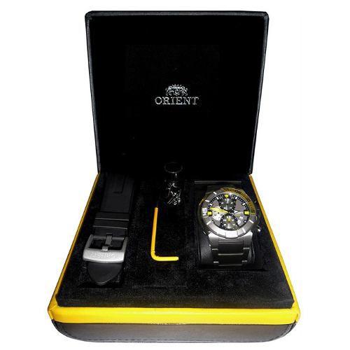 Relógio Orient Titanio Mbttc003 2 Pulseiras Garantia 1 Ano
