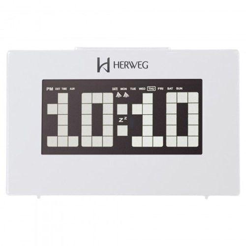 Relógio Digital Mesa Herweg 2963 021 Branco Termometro