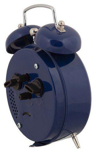 Despertador Herweg 2208 011 Azul Estilo Antigo Retrô Relógio