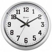 Relógio Parede Herweg 6128 028 Cromado Grande 40cm