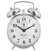 Despertador Herweg 2370 207 Cromado Picoteado Vintage Relógio