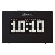 Relógio Digital Mesa Herweg 2963 034 Preto Termometro