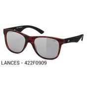 Oculos Solar Mormaii Lances - Cod. 422f0909 - Garantia - Vermelho rajado - Lente Cinza Flash