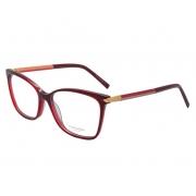 Armação de Óculos Ana Hickmann  ah6344 t01s  Bordô Tamanho 54