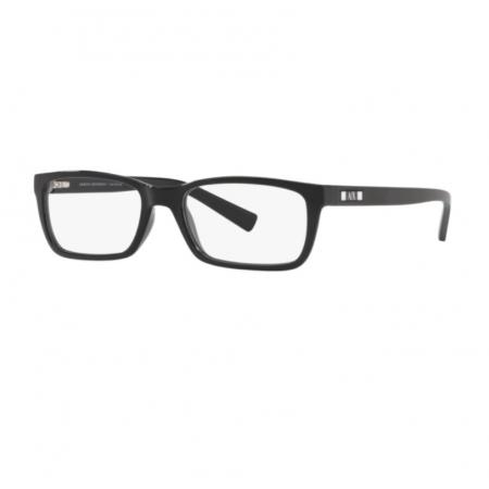 Armação De Óculos Armani Exchange Ax3007l 8158 53 Preto Brilho