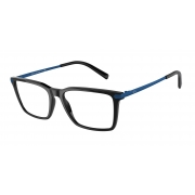Armação De Óculos Armani Exchange  Ax3077 8158 54 Preto Brilho