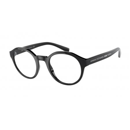 Armação De Óculos Armani Exchange Ax3085 8158 49 Preto Brilho
