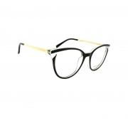 Armação de Óculos Atitude  at7126 a01 Preto Brilho