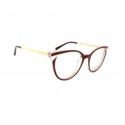 Armação de Óculos Atitude  at7126 c01 Bordô Brilho