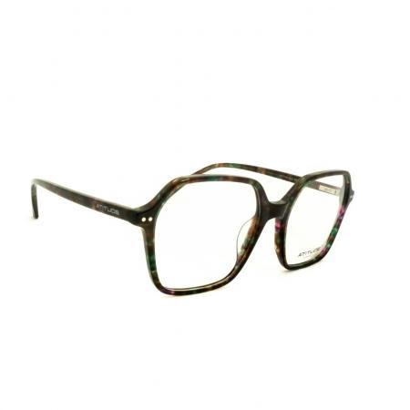 Armação de Óculos Atitude  at7145 g22 Verde Brilho Marmorizado