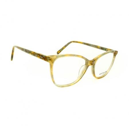 Armação de Óculos Atitude  AT7153 G22 Cinza Translúcido Marmorizado