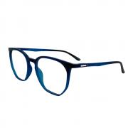 Armação de Óculos Atitude attach tropez clip on d01 Azul Translúcido