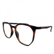 Armação de Óculos Atitude attach tropez clip on g21 Marrom Fosco Tartaruga