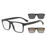 Armação de Óculos Empório Armani Clip On ea4115 58531w 54 Preto Fosco