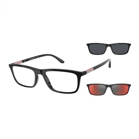 Armação de Óculos Empório Armani Clip On ea4160 50171w 55 Preto