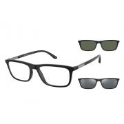 Armação de Óculos Empório Armani Clip On ea4160 50421w 55 Preto