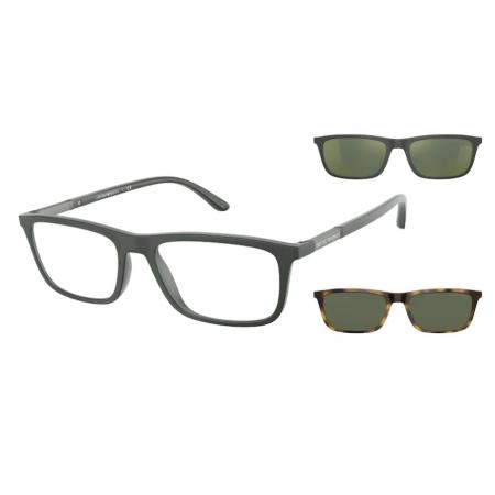 Armação de Óculos Empório Armani Clip On ea4160 50581w 55 Verde