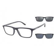 Armação de Óculos Empório Armani Clip On ea4160 50881w 55 Azul