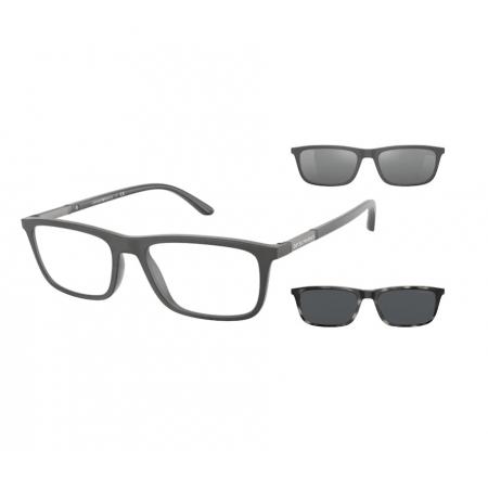 Armação de Óculos Empório Armani Clip On ea4160 54371w 55 Cinza
