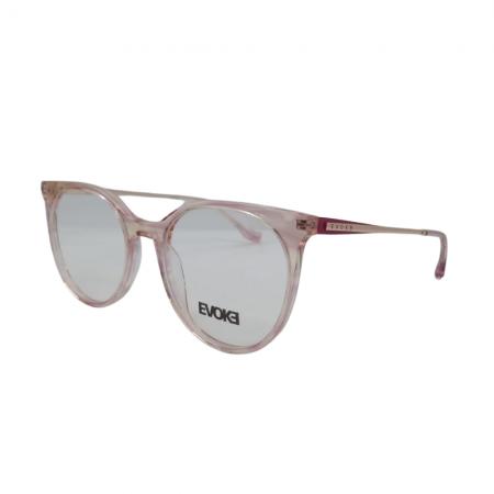 Armação De Óculos Evoke For You Dx44n G24 Rosa Translúcido