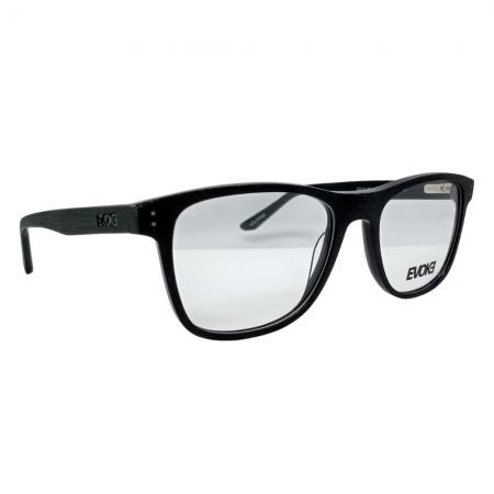 Armação de Óculos Evoke For You dx80 a01 55 Preto Riscado