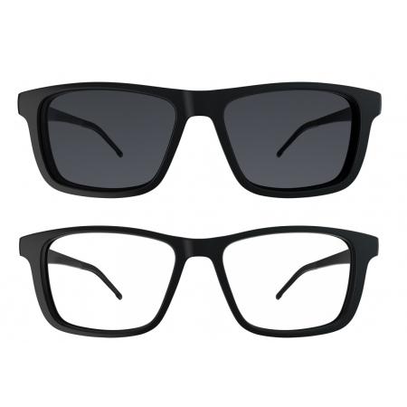 Armação de Óculos Hb Clip On Switch 0351 10103510578032 Preto