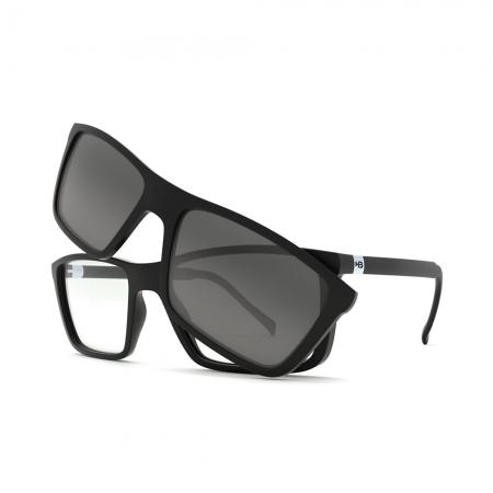 Armação de Óculos Hb Clip On Switch 0379 10103790243032 Preto