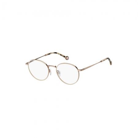 Armação De Óculos Tommy Hilfiger Th1820 Ddb 50 Rosê Brilho