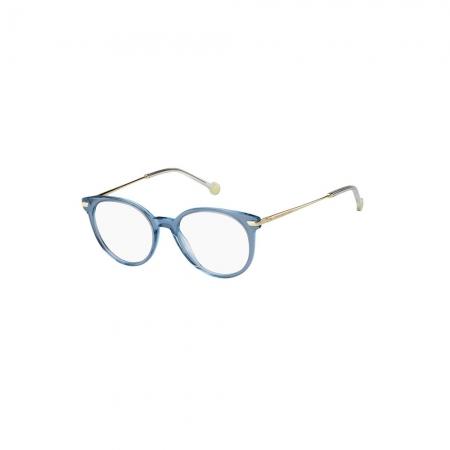 Armação De Óculos Tommy Hilfiger Th1821 Pjp 51 Azul Translúcido