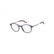 Armação De Óculos Tommy Hilfiger Th1832 Fll 51 Azul Fosco