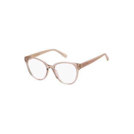 Armação De Óculos Tommy Hilfiger Th1842 35j 51 Rosê Translúcido