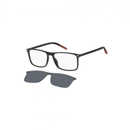 Armação De Óculos Tommy Jeans Clip On Tj0018/cs 003 55 Preto Fosco