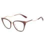 Armação Oculos Ana Hickmann AH6401 H01 Marrom Dourado