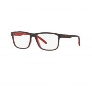 Armação Oculos Arnette Krypto AN7183L 2718 55 Preto Vermelho Brilho